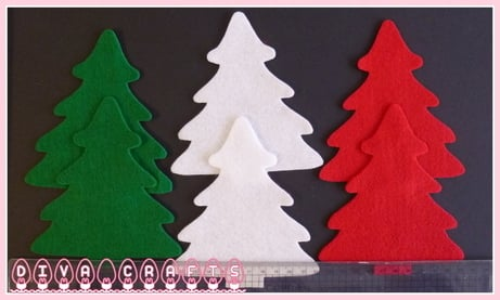 felt christmas trees diva crafts