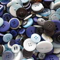 75g Blue Mix Craft Buttons