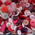 75g Pink Mix Craft Buttons