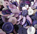75g Purple Mix Craft Buttons