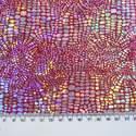 Snake Skin Polyester Fabric - Dark Cerise