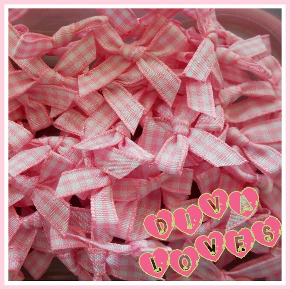 pink gingham bows diva loves week 10 diva crafts