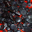 75g Black Mix Craft Buttons