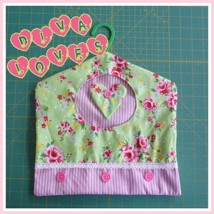green and pink roses handmade peg bag diva crafts diva loves week 20