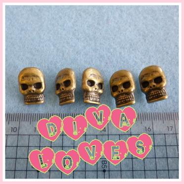skull buttons diva crafts antique gold diva loves week 26