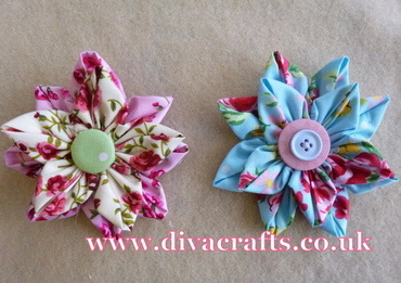 fabric flower free project diva crafts (8)