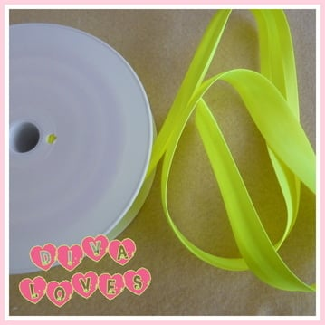 satin bias binding yellow neon diva crafts diva loves week 36