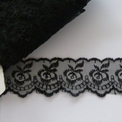 Lace 45mm Wide - Black