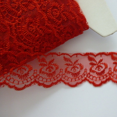 Lace 45mm Wide - Red