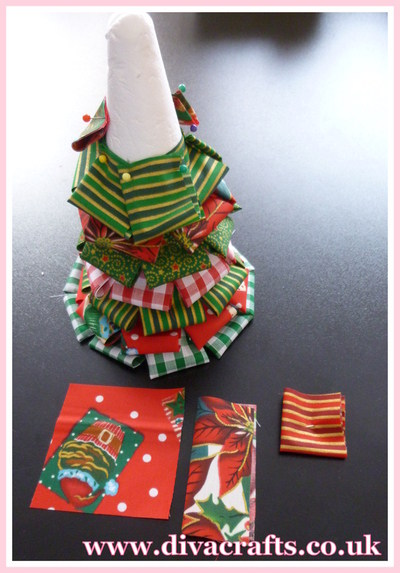 christmas tree cone project diva crafts (1)