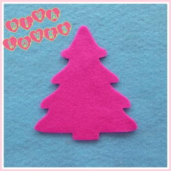 felt christmas trees hot pink diva crafts diva loves week 51