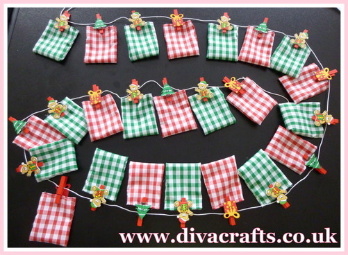 diva crafts ideas gallery fabric advent calendar