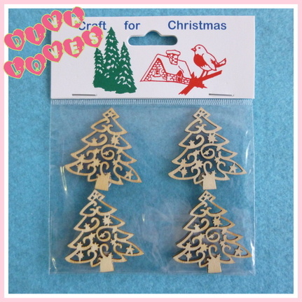 christmas trees wooden embellishments diva crafts