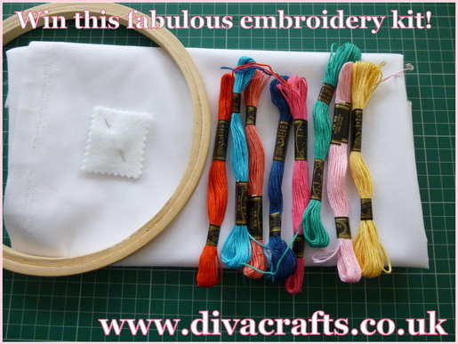 Diva Crafts competition win a free embroidery kit