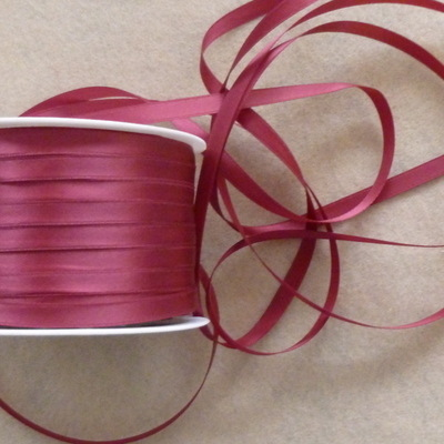 7mm Wide Double Satin Ribbon - 038 Wine