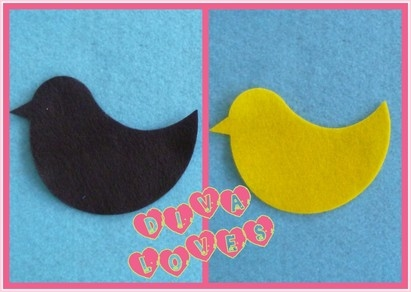 felt birds easter chicks diva crafts diva loves week 62