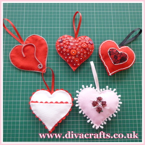 Diva crafts valentines hearts