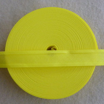25mm Wide Bias Binding Sold by the Metre - Yellow