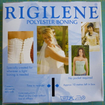 8mm Wide Polyester Boning - White
