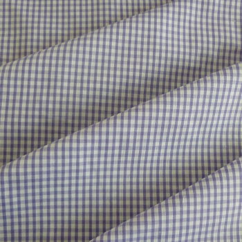 Polycotton Gingham Fabric 3mm Check - Lilac
