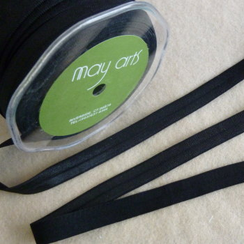 15mm Wide Satin Elastic - Black