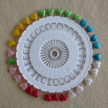 Pin Wheel 30 Pins - Hearts