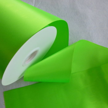 Sash Ribbon 10cm Wide  - Neon Green