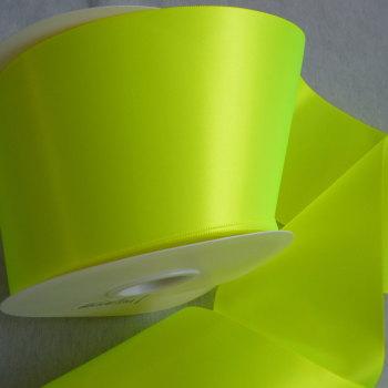 Sash Ribbon 10cm Wide  - Neon Yellow