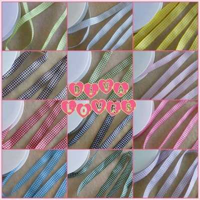 gingham ribbon 10mm wide diva loves week 71 at diva crafts