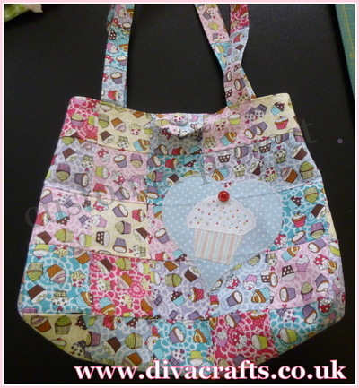 Diva Crafts customer project cupcake bag