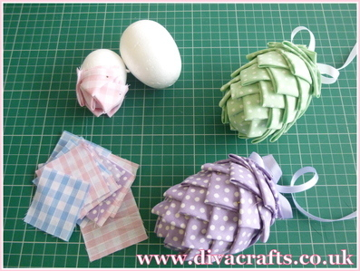 Diva Crafts mini project polystyrene easter eggs