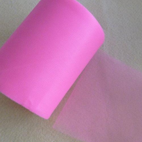 Tulle 15cm Wide - Dark Pink