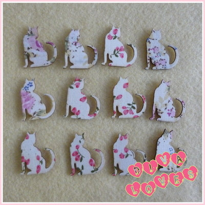 wooden embellishments floral cats diva crafts diva loves week 77