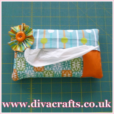 handmade tissue packet cover by Diva Crafts