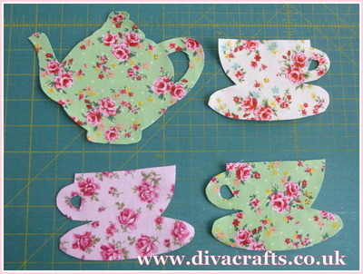 hanging tea cups and teapot decoration free project diva crafts (2)