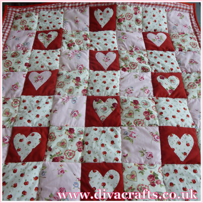 customer project heart patchwork quilt diva crafts