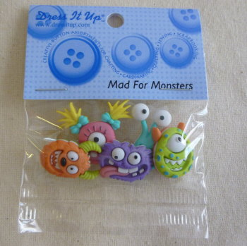 Dress It Up Buttons - Monsters