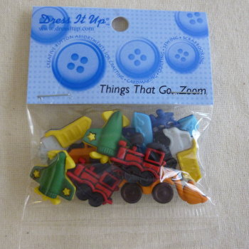 Dress It Up Buttons - Vehicles