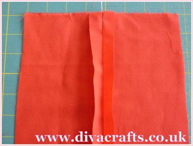 sewing tutorial how to add a zip at Diva Crafts (2)