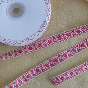 Bertie's Bows Christmas Ribbon 16mm Wide - Scandanavian