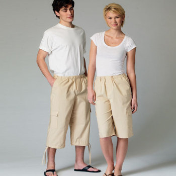 McCall's 6933 UNISEX Shorts Sewing Pattern Sizes ONE SIZE