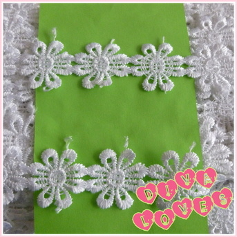 daisy guipure lace diva crafts