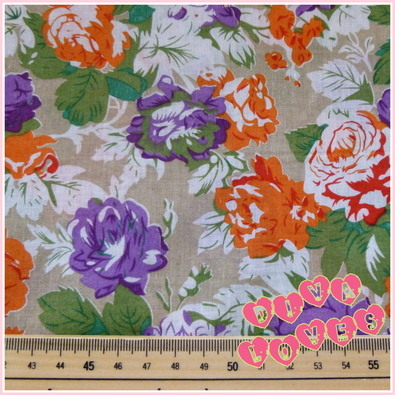 orange and purple roses cottom lawn fabric diva crafts diva loves week 87