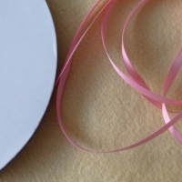 6mm Wide Double Satin Ribbon - Pale Pink