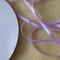 6mm Wide Double Satin Ribbon - Lilac
