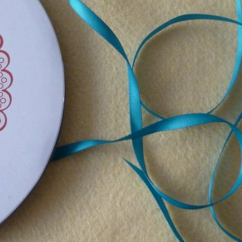 6mm Wide Double Satin Ribbon - Teal