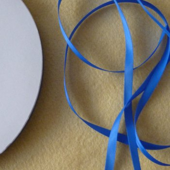 6mm Wide Double Satin Ribbon - Blue