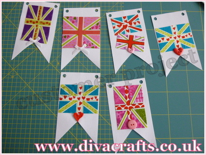 diva crafts customer project union jack bunting