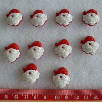 Christmas Novelty Buttons - Father Christmas x 10