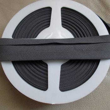 25mm Wide Polycotton Bias Binding - Grey
